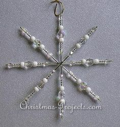 snowflake crafts | ... snowflake ornament. This craft is easy for adults and kids alike