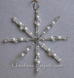 Snowflake bead craft