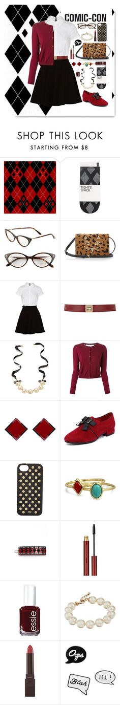 """""""Prim Harley Quinn Outfit"""" by ohsosartorial on Polyvore featuring H&M, Tom Ford, Charlotte Olympia, Alice + Olivia, Maison Boinet, Mawi, RED Valentino, ADORNIA, Django & Juliette and Rifle Paper Co"""