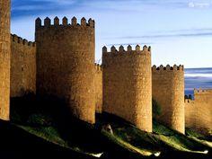 Avila, Roman walls, SPAIN  April 2000