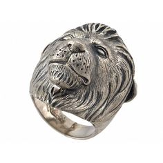 Theo Fennell Alias Lion Beastie Ring ($441) ❤ liked on Polyvore