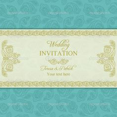Turkish Cucumber Wedding Invitation, Gold And Blue Stock Vector - Illustration of marriage, indian: 42879705 Peacock Wedding Invitations, Square Wedding Invitations, Wedding Invitation Templates, Invitation Card Sample, Marriage Invitation Card, Invites, Wedding Frames, Wedding Cards, Wedding Ideas
