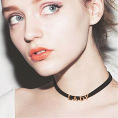 Sexy Letters LADY Choker Necklace