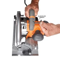Onboard Blade Wrench - Circular Saw Review: What are the Best Circular Saws? Get the guide: http://www.familyhandyman.comtools/circular-saws/circular-saw-review-what-are-the-best-circular-saws