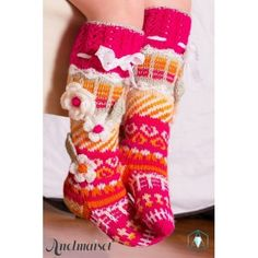 Ravelry: Anelmaiset Kid's Knee Highs by Anelma Kervinen Crochet Leg Warmers, Crochet Socks, Knitting Socks, Knitted Hats, Knit Crochet, Kids Socks, Knitting For Kids, Womens Slippers, Sock Shoes