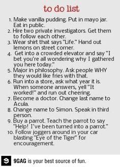 My to do list.