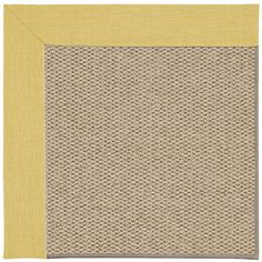 Capel Inspirit Machine Tufted Yellow/Brown Area Rug Rug Size: Square 10'