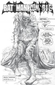 Batman: Black & White n°1. Art by Neal Adams.