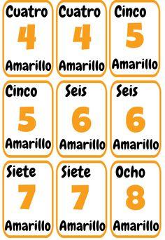 Cartas UNO imprimibles para la clase de español. ELE colores y números. Spanish Teacher, Spanish Classroom, Sub Plans, Spanish Lessons, How To Plan, Education, Games, Holiday Decor, School
