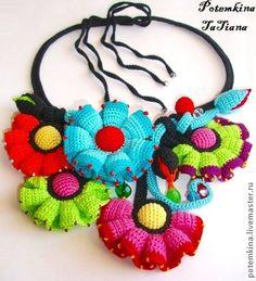 Irish lace, crochet, crochet patterns, clothing and decorations for the house, crocheted. Crochet Flower Patterns, Crochet Flowers, Diy Necklace Bracelet, Irish Lace, Crochet Earrings, Crochet Jewellery, Crochet Accessories, Beautiful Crochet, Fiber Art