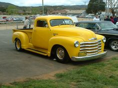 A Mello Yellow Vintage Chevy Pickup Truck