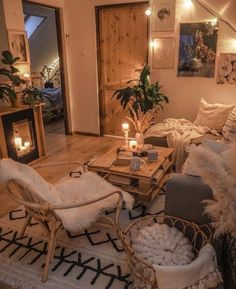 Room Design Bedroom, Room Ideas Bedroom, Bedroom Decor, Cozy Living Rooms, Home Living Room, Living Room Decor, Aesthetic Room Decor, Cozy Room, Cozy House