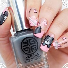 Hey ladies do you to see nail art designs for Valentines Day that look really cute Then this article is what you have been looking for. It contains 18 pretty nail art designs for valentines day t Nail Art Designs, Pretty Nail Designs, Pretty Nail Art, Nail Polish Designs, Beautiful Nail Art, Beautiful Pictures, Pink Nails, My Nails, Jolie Nail Art