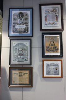 IWW, Lithographers, Railroad, Trolley Draymen, FEDFA, Bricklayers certificates