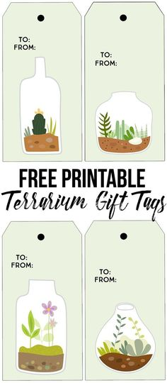 Printable Terrarium Gift Tags from Live Laugh Rowe