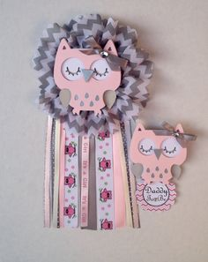 Owl baby shower corsage/ Mon to be by CreationsCuadraHauck on Etsy