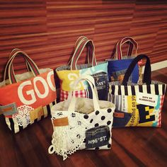 バッグあれこれ #ハンドメイド#ハンドメイドバッグ#ハンドメイド小物#バッグ#bag#レース#ステンシル#ワッペン#デニムリメイク#男前#モノトーン#コーデ#ファッション#ストライプ#ドット#ネスホーム