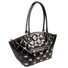 Betsey Johnson purse with bows...& it has leopard on this inside!! Want!