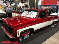 Hot Wheels - Yeah @finishlinespeedshop with this super cool squarebody posted up at #sema2016 , bad ass! #chevrolet #gmc #c10 #airsuspension #bagged #layframe #stance #chopped #streettruck #streetmachine #streetrod #hotrod #truckporn #lowfastfamous
