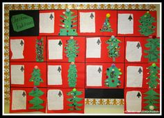 photo of: Christmas Traditions Writing Bulletin Board (RoundUP of Christmas Bulletin Boards via RainbowsWithinReach) Writing Bulletin Boards, Christmas Bulletin Boards, Classroom Bulletin Boards, Classroom Ideas, Christmas Projects, Christmas Holidays, Christmas Traditions, Projects To Try, Gift Wrapping