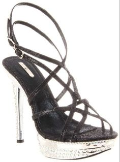 £32.00 Shoehorne Natalie-06 - Womens Black Dazzling Strappy Slingback High Heeled Platform Evening Bridal Party Sandals w/ Sparkling Diamante Jewels Encrusted heel - Avail in Ladies Size 3-8 UK: Amazon.co.uk: Shoes & Accessories