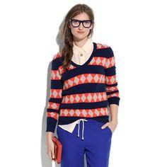 Pattern Stripe Sweater - sweaters - Women's ONLINE EXCLUSIVES - Madewell