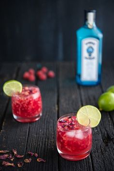 Raspberry Rose Gin and Tonic