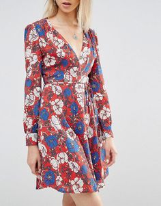 Princess Mary's Red Printed Dress Sept. 2016 | POPSUGAR Fashion