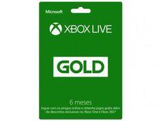 Cartão Microsoft Xbox Live Gold 6 meses - para Xbox One e Xbox 360