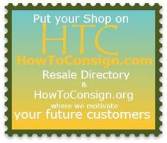 Let's exchange links... for the benefit of your current and potential customers and suppliers! How-to: http://howtoconsign.com/sponsor.htm