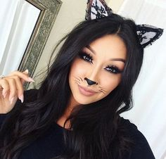 50 Pretty and Unique Makeup Looks For Halloween; the hottest Halloween makeup looks. The post 50 Pretty and Unique Makeup Looks For Halloween appeared first on Best Pins for Yours. Simple Cat Makeup, Unique Makeup, Cute Makeup, Easy Makeup, Makeup Ideas, Dramatic Makeup, Simple Cat Face Paint, Cat Makeup For Kids, Makeup Art