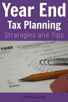 Don't wait till next year to start optimizing your taxes. Take these year end tax planning strategies and tips and apply them to your personal and business tax situation for success. http://ptmoney.com/year-end-tax-moves/