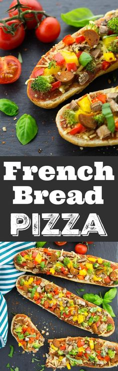This vegan French bread pizza is incredibly delicious, crunchy, and ready in only 15 minutes! Perfect for quick weeknight dinners!