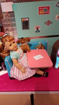 American Girl Doll Maryellen had fun at The Seaside Diner.