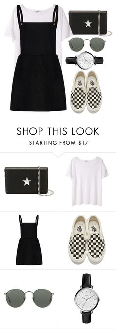 """""""Sin título #2278"""" by alx97 ❤ liked on Polyvore featuring Givenchy, T By Alexander Wang, Vans, Ray-Ban and FOSSIL"""