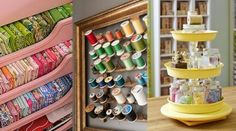 Whether your creative space is a dedicated room or a small corner, you& love these drool-worthy craft room organization ideas! Electronics Projects, Electronics Storage, Silhouette Design, Fat Quarters, Crafts For Teens, Diy And Crafts, Burp Cloth Patterns, Bag Patterns, Quilt Patterns