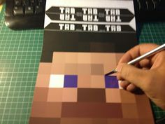 minecraft steve head template | Free Minecraft Steve head, printable template mask ~ FPSXGames
