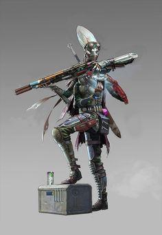 Kasatha Operative Sniper - Starfinder RPG (Core Rulebook Art)
