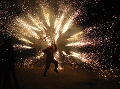 Yes, the Correfoc is this mental and yes they are just passers by. No health and safety when Girona parties!