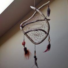 Natural wood dreamcatcher native american inspired- sleep healing bohemian interior decor