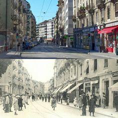 Rue des Eaux-Vives #eauxvives  #geneva #geneve #genève #pastpresent #pastandpresent Street View, Instagram, Living Water