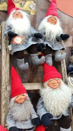 Tyynelän tontut, Finland Elves in Finland Gnomes, Elves, Finland, Christmas Time, Crochet Hats, Knitting Hats, Faeries