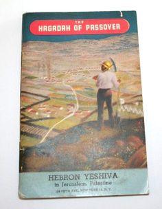 Jewish Passover Hagadah Prayer Booklet Hebron Yeshiva Jerusalem Palestine 1944