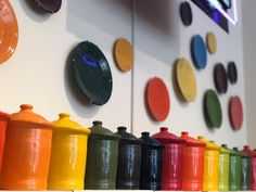 """""""Rainbows of canisters, as far as the eye can see! ✨ Join our Fiesta rewards program and save 10% when you spend $100 on@fiestadinnerware🌈 . . . #fiestafriday#fiestaware#authenticfiestaware#madeinusa#kitchenware#gifts#giftshop#shoplocal#buylocal#proctordistrict#tacoma#tacomawa#womanowned#smallbusiness#familybusiness#sale#253""""   The Proctor Mercantile (@theproctormercantile) on Instagram"""