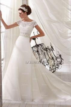 Trumpet/Mermaid Off-the-shoulder Court Train Organza wedding dress - IZIDRESSES.com at IZIDRESSES.com