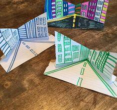 Third Grade Art, Art Cart, Perspective Art, Ecole Art, Math Art, Art Curriculum, Virtual Art, School Art Projects, Middle School Art