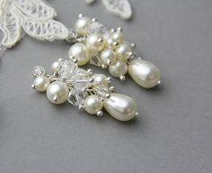 Swarovski Pearls and  crystals cluster by LavenderByJurgita, $37.00