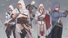  *Reproduced without authorization prohibited* Assassin's Creed -equal / eqio / echo A Chinese girl who are fond of drawing fanart  Assessin Creed, All Assassin's Creed, Assassins Creed Anime, Assasins Cred, Cry Of Fear, Connor Kenway, Graphic Novel, Picture Blog, Character Art