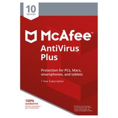 McAfee AntiVirus Plus - 10 Devices for 1 Year Android Technology, Technology World, Antivirus Protection, Android Tutorials, Web Security, Android Box, Android Apps, Antivirus Software, Facetime