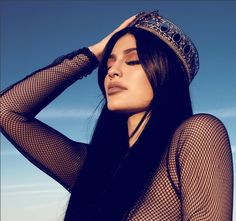 Kylie Jenner Desert Photo Shoot - Kylie Jenner Posing in Lingerie and Fur Boots
